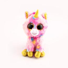 7315684ad89 beanie boos big eyes Ty Beanie Boos Big Eyes 10 - 15cm Pink Unicorn Stuffed    Plush Animals Toys Dolls