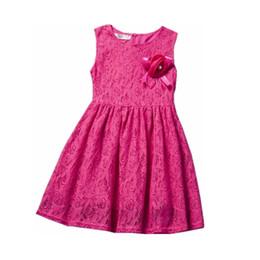 $enCountryForm.capitalKeyWord UK - Retail children Clothing lace girls dress summer Sleeveless Cute sweet Bow Baby Kids pretty Dresses girls clothes A151