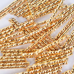 tube bending bracelet Canada - 100pcs lot Tube Beads Spacer curve Bent Tubing Bracelet Materia pipe decorative Moon connector Bangle necklace pendants components