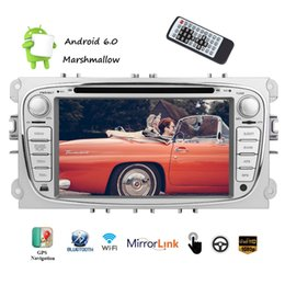 wifi dash cams NZ - Dual CAM-IN Android 6.0 Car DVD Player Quad core CPU 2 DIN IN Dash HeadUnit GPS Navigation CD WIFI Bluetooth Steering Wheel