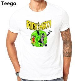 Wholesale Casual men t shirt Rick and Morty reality brand clothing Rick Morty powell skateboard peralta T shirts men summer cotton tshirts