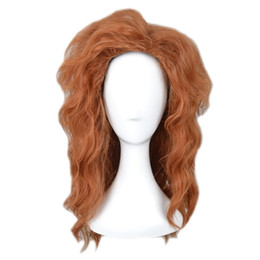 sexy japanese women costume UK - Women Fluffy Wavy Lolita Gothic Party Costume Cosplay Wig Short Brown