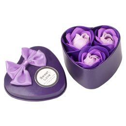 Bath & Shower Intelligent 3pcs Lovely Heart Shape Flower Soap Bath Body Rose Petal Soap Wedding Decoration Women Girl Date Romantic Gift