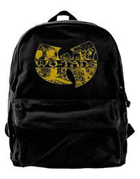 Cute baCkpaCks for College women online shopping - Wu Tang Clan Canvas Shoulder Backpack Cute Backpack For Men Women Teens College Travel Daypack Black