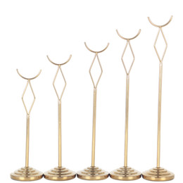 $enCountryForm.capitalKeyWord UK - Gold stainless steel table number holders High Qualtiy Semicircle 8 10 12 14 inch wedding party patable number stands