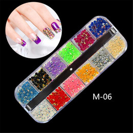Nails Beads NZ - Nail AB Crystal 12 Colors Beads Resin Crystal Round Nail Art Rhinestones Non Hix Flatback Rhinestone Decorations for Nails