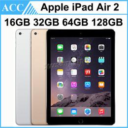 Wholesale Refurbished Original Apple iPad Air 2 iPad 6 WIFI Version 16GB 32GB 64GB 128GB 9.7 inch Triple Core A8X Chipset Tablet PC DHL 1pcs