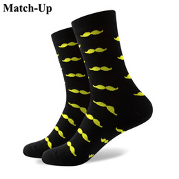 Size Socks Canada - 2016 Men's combed cotton brand men socks,colorful mustache socks,free shipping,US size (7.5-12) 325