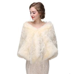Wholesale CMS09 Bridal fur stole Vintage stole faux fur Winter Wedding Coat bridal shawl wrap fur bridal stole wedding stole faux fur cape