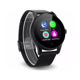 smartwatch ios k88h UK - K88H Smart Watch 1.22 Inch IPS Round Screen Support Sport Heart Rate Monitor Bluetooth SmartWatch For IOS Android 30pcs