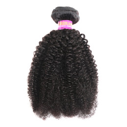 indian remy afro kinky hair weave NZ - 8A Afro Curly Peruvian Virgin Hair Extensions 3 Bundles Natural Color Afro Kinky Curly 100% Human Hair Weaving 4B 4C Human Hair