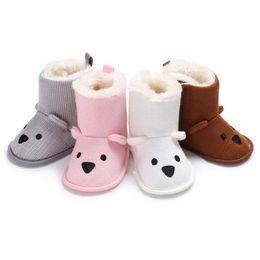 $enCountryForm.capitalKeyWord NZ - 0-18M Newborn Infant Kid Bear Baby Boys Girls Snow Boots Knit Crochet Soft Sole Shoes Anti-Slip Boots Warm Slippers