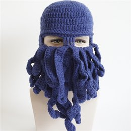 Wholesale New Fashion Unique Octopus Festival Hat Hand Woven Creative Halloween Diy Yarn Hats Birthday Party Hat Gift Z2828