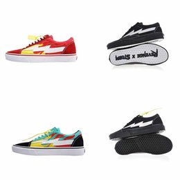 5ddaae4fa0 2018 Original Revenge x Storm Pop-up Store 3 Lightning Flame Skate Shoes  Designer Zapatillas Old Skool 3s Fashion Women Men Sneakers