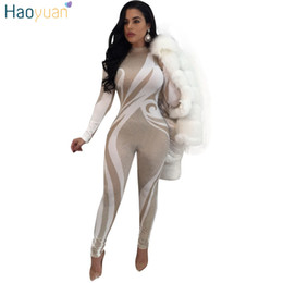 a254cbb421 HAOYUAN S-XXL Bodycon Sexy Bodysuit Overalls 2018 Spring Night Club Long  Sleeve Party Tight Body Casual Rompers Womens Jumpsuit