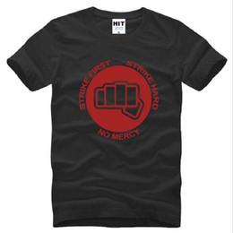 New Neck Design T Shirts Canada - New Design STRIKE FIRST STRIKE HARD Printed T Shirts Men Short Sleeve O Neck Cotton Men's T-Shirt Summer Style Creative Top Tee