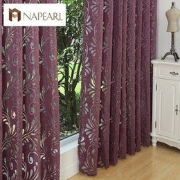 Purple Black Curtains NZ - Ready Made Semi-blackout Curtains Blind Panel Fabrics For Window Purple Curtain Living Room Window Treatment Purple Black White