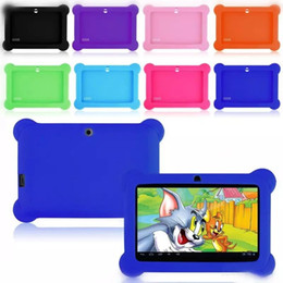 "$enCountryForm.capitalKeyWord Australia - DHL Anti Dust Kids Child Soft Silicone Rubber Gel Case Cover For 7"" 7 Inch Q88 Q8 A33 A23 Android Tablet pc MID Free shipping"
