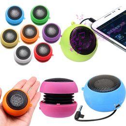 Loudspeakers Tablet Australia - Cool Hamburger Style Mini Stereo Sound Box Loudspeaker Audio Music MP3 Player Spinner for Phones Tablet