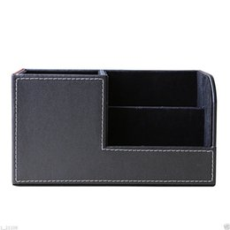 Multifunctional Office Desktop Decor Storage Box Leather Stationery Organizer Pen Pencils Remote Control Mobile Phone Holder Top Watermelons Pen Holders Office & School Supplies