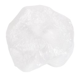 Cleaning Pack Australia - 100pcs Pack Clear Plastic Disposable Shower Caps Hotel One-Off Bathing Cap Anti-Dust Hat Home Bathroom Hair Salon Spa Cap