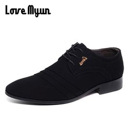 $enCountryForm.capitalKeyWord Canada - Cheapest black dress shoes mens Nubuck leather shoes wedding black lace up Pointed toe Double buckle leather flats AB-27