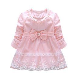 $enCountryForm.capitalKeyWord UK - Fashion Autumn Long Sleeve lace Bow cute baby Party Birthday girls kids Children dresses princess infant Dress