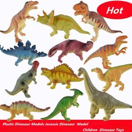 Discount plastic building bricks figures - New Mini Figures Building Blocks Plastic Dinosaur Models Jurassic Dinosaur Figures Model Bricks Children Kids loud dinos
