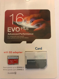 Wholesale 2020 Hot EVO Plus 100% Real Genuine Full Capacity 2GB 4GB 8GB 16GB 32GB 64GB Class 10 Micro TF Memory Card With SD Adapter Retail Package