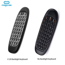 Discount games for android tv box - C120 Backlight Fly air mouse Wireless Game Keyboard Rechargeable 2.4GHz Universal Smart Controle Remote for Android Tv B