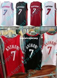 Cheap New 2017-18 Carmelo Anthony Jerseys 7 Mens Stitched City Edition Black  Red White Big And Tall Size 3XL d448face0