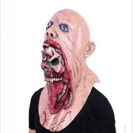 $enCountryForm.capitalKeyWord UK - Halloween Masquerade Horror Vampire Adult Infected Zombie Mask Scary Costume party Props Costume Screaming Corpse Head Mask