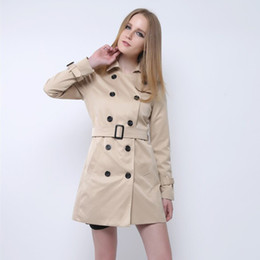 e75856409f Double Breasted Winter Coat Women Elegant Brief Lapel Long Sleeve Coats  2018 Autumn Welt Pocket Vintage Warm Coat