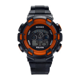Discount new style boys watches - Male watches Waterproof Children Boys Digital LED boy waterproofing Sports style Watch Kids Alarm Date Watch kid gifts n