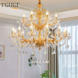 modern glasses shop 2020 - Modern Crystal Chandelier Lighting Candle Bulbs Lustres Golden Chandeliers Hanging Lamp Light for Dining Room Shop Livin