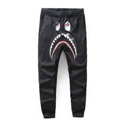 Erkek tasarımcı pantolon Bir Banyo HIP HOP Köpekbalığı ağız pamuk ape açık giyim sonbahar erkek joggers için adam kadın boyutu s-2xl