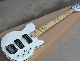 $enCountryForm.capitalKeyWord NZ - 2018 Factory Custom White 5-String Electric Bass Guitar with Maple Fingerboard,Chrome Hardwares,Maple Neck,Good Quality