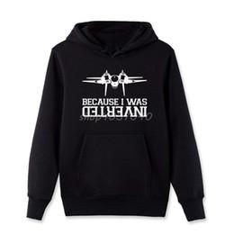gun cotton 2019 - New Brand Clothing Cotton Sweatshirts Funny Because Was Inverted F14 Tomcat Aircraft Gun Sweatshirts Hip Hop Coat Top St