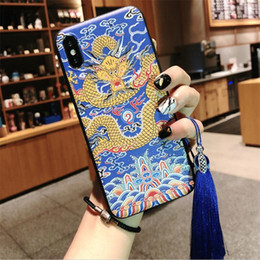 house animals Australia - Chinoiserie phone case animal pattern Lace protector cover national features pattern case for iPhone 6 7 plus X XR XS XSmax phone house