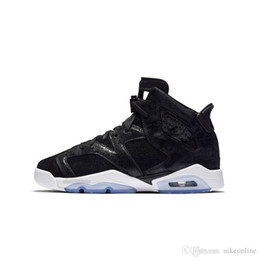 Kids Black Tennis Shoes NZ - Cheap womens Jumpman 6 VI basketball shoes 6s Heiress Velvet Black Cat 3M ASG Infrared White LNY Glow Green Red aj6 sneakers tennis for kids