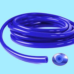 Автомобильный двигатель 4 мм силиконовый вакуумный шланг для труб Кремниевая трубка 16.4ft 5 метров Синий комплект