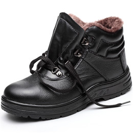 $enCountryForm.capitalKeyWord NZ - plus size mens leisure steel toe cap working safety warm fur cotton shoes black platform winter snow ankle security boots sapato