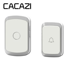 $enCountryForm.capitalKeyWord Australia - CACAZI A20 Wireless Doorbell Waterproof AC 110-220V 300M Remote door bell 36 melody 4 volume 1 button 1 receiver 50SET LOT