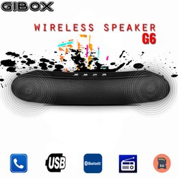 Discount bluetooth stick - Portable GiBox Long Bar Bluetooth Wireless Speaker G6 With Hands-free Microphone USB TF card Player Stereo Hifi Bar stic