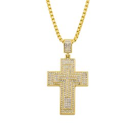 Chinese  Customized Jesus Christian Cross Necklace Women Men Hip Hop Pendant Necklace Jewelry 2018 Fashion Long Necklace Accessories manufacturers
