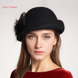 ad43d46fb41 Fairy Dreams Wool Berets Women Autumn Winter Solid Hat Bow Headgear Ladies  Black Red Formal Warm England Vogue Hats Female Cap