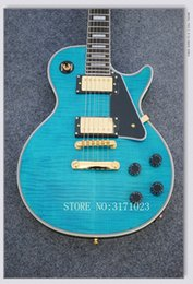 electric guitar custom sale NZ - Factory direct sales Custom Shop blue Tiger electric guitar China Guitar