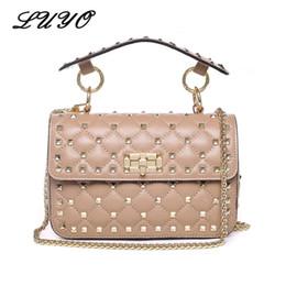 295e19c9a54 LUYO Rivet Genuine Leather Crossbody Bags For Female Luxury Handbags Women  Bags Designer Clutch Tote Small Shoulder Channel Bag