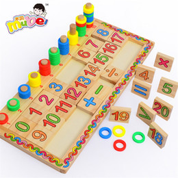 Wholesale Child Child Activity Digital Study Wooden Early Childhood English Logarithm Board Teaching Toys