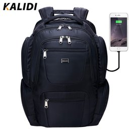 $enCountryForm.capitalKeyWord Canada - KALIDI Waterproof Laptop Bag Backpack for Men USB Charge and Headphone Interface laptop bag for Macbook 17 inch Travel Backpack